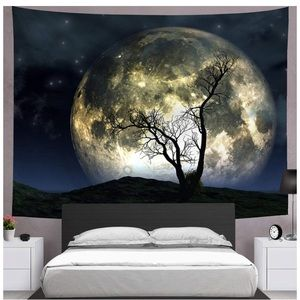 Large Wall Hanging Moon Tapestry Galaxy